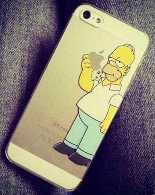 funny-iPhone-case-Homer-Simpsons-eating