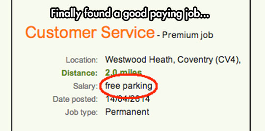 funny-job-offer-free-parking-salary