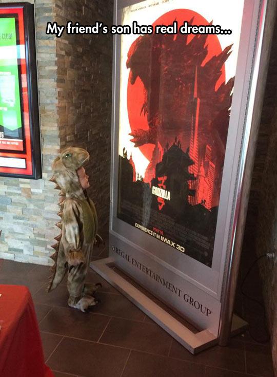 funny-kid-dinosaur-Godzilla-poster