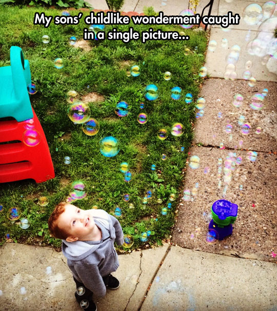I Wish I Loved Anything Half As Much As Kids Love Bubbles