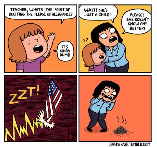 funny-kid-teacher-flag-ray-Pledge-Allegiance
