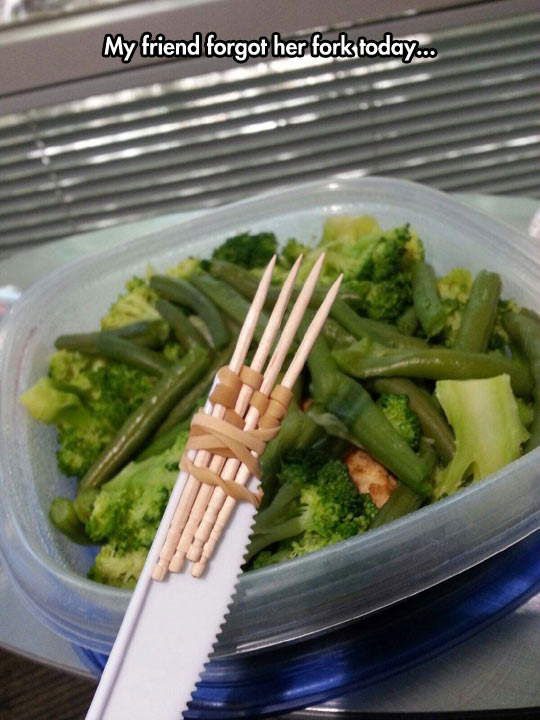 Improvised Fork
