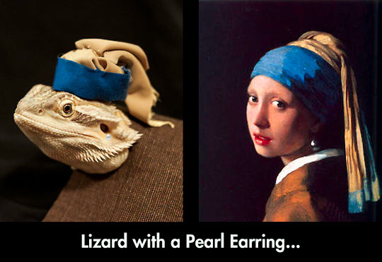 funny-lizard-painting-pearl-earring