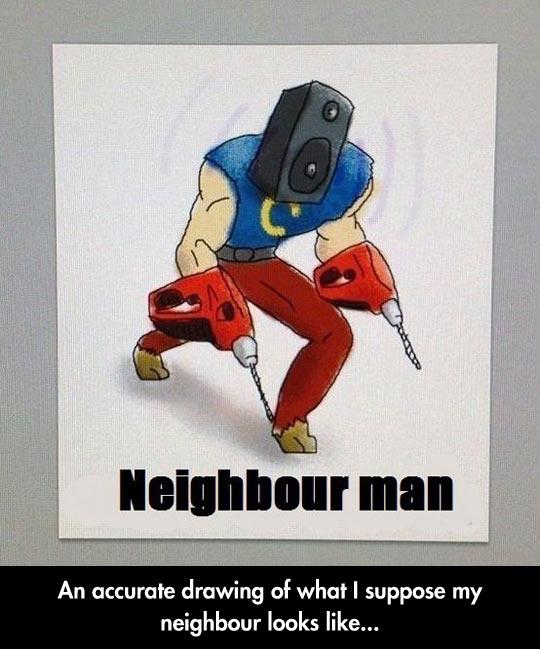 funny-neighbour-driller-speaker-head