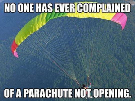 Parachute's Best Advertisement