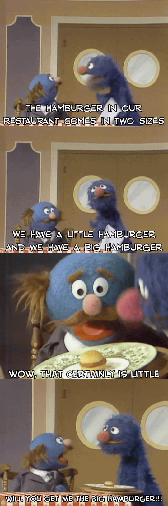 Hamburger Comes In Two Sizes