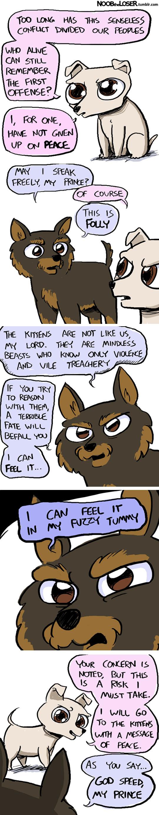 funny-puppy-wants-talk-kittens