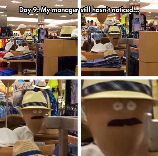 He's Still Unaware
