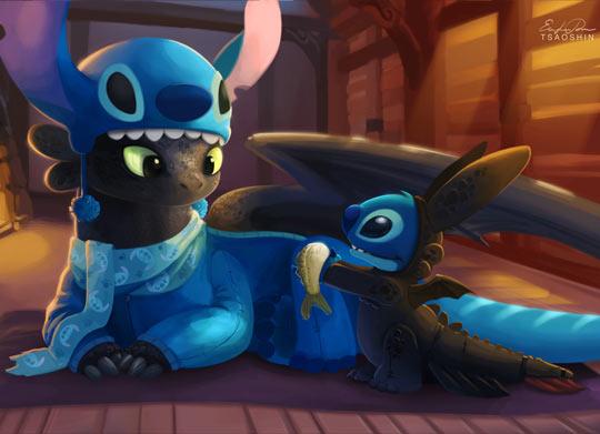 funny-train-dragon-Lilo-Toothless