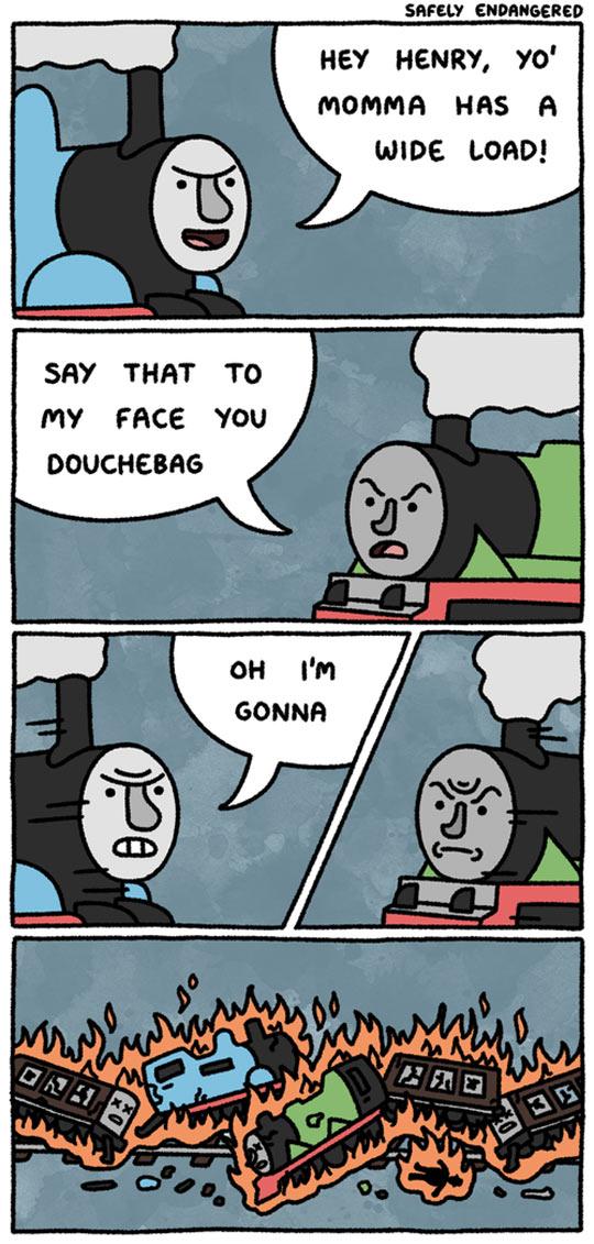 Train Fight
