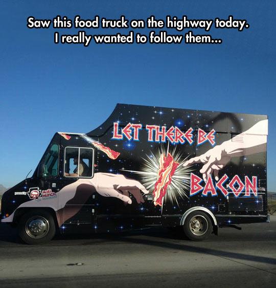 funny-truck-road-god-bacon-creation