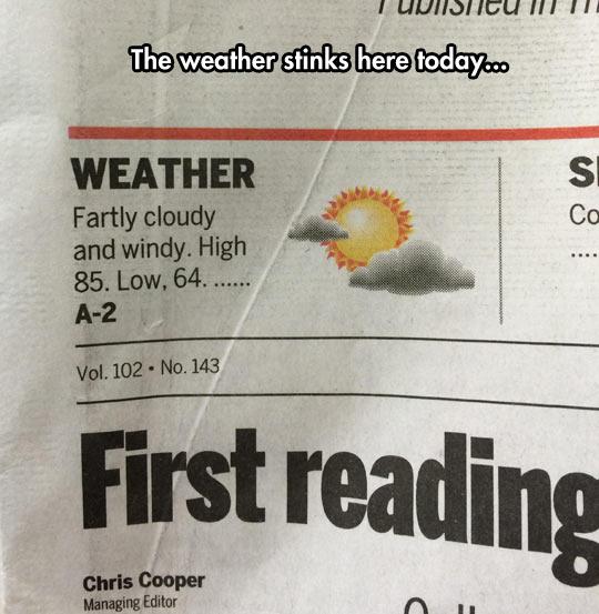 funny-weather-newspaper-ad-stinks