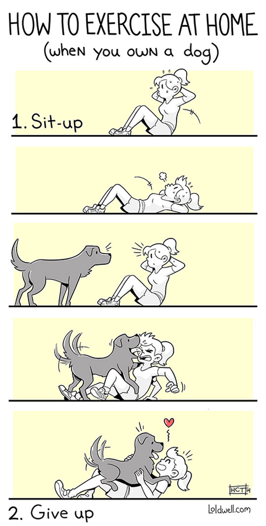 funny-webcomic-exercise-home-dog-licking