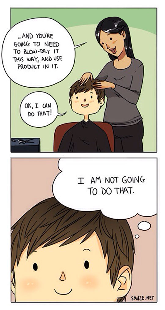 Every Time I Visit The Hairdresser
