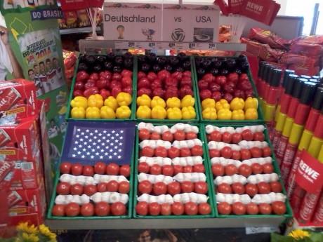 German supermarket this morning