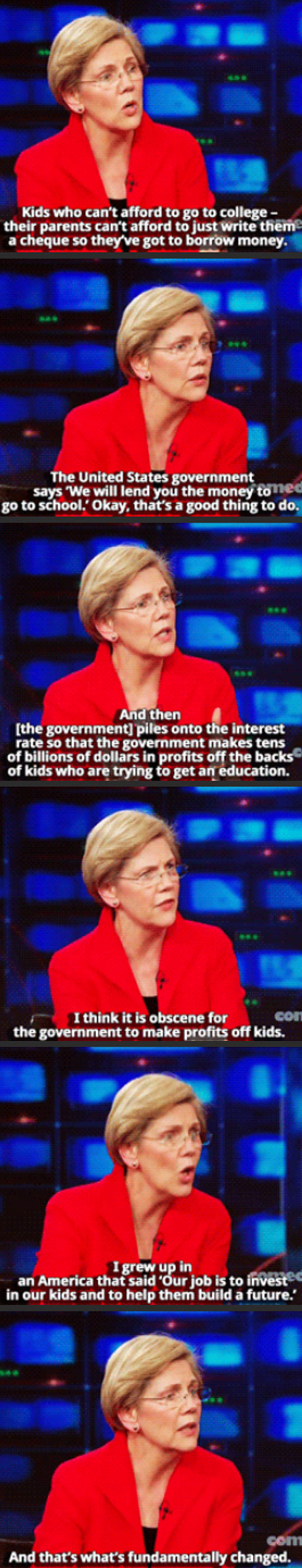 Elizabeth Warren On The Daily Show