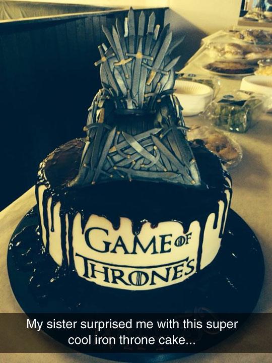 An Iron Throne Cake