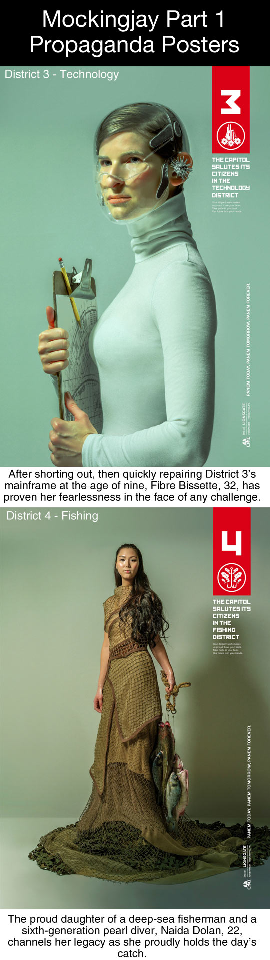 Mockingjay Part 1 Propaganda Posters