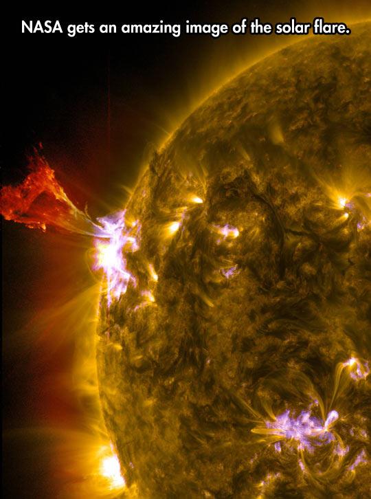 Amazing Image Of The Solar Flare
