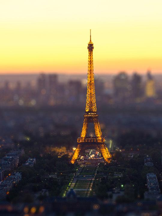 Paris In Tilt-Shift