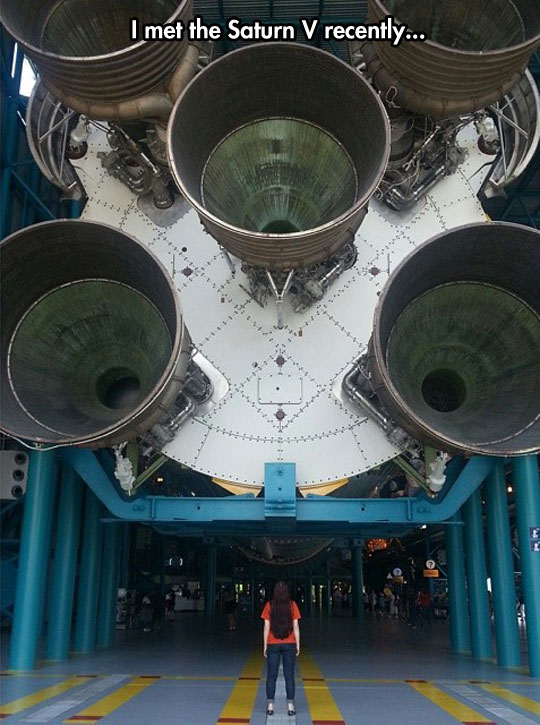 The Saturn V At The Kennedy Space Center