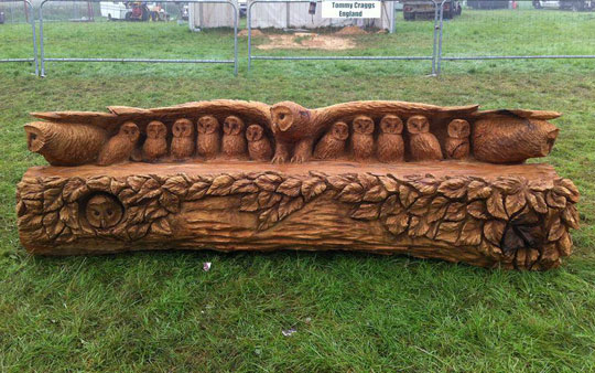 cool-carved-wood-owl-bench