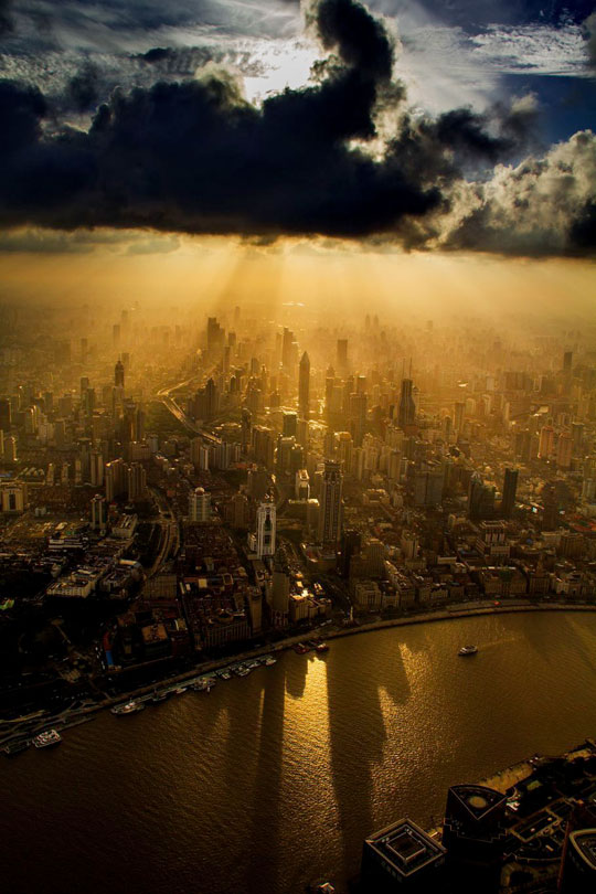 A View Of The City Of Shanghai