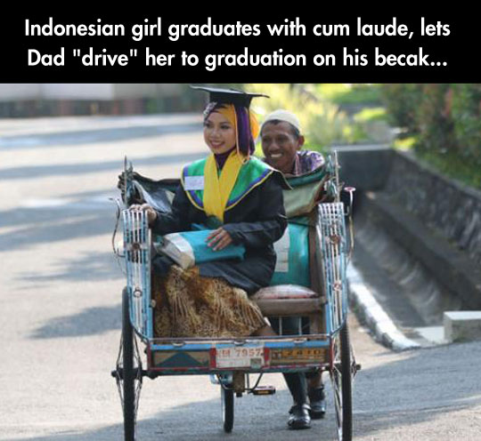 cool-dad-driving-daughter-graduate-Indonesia