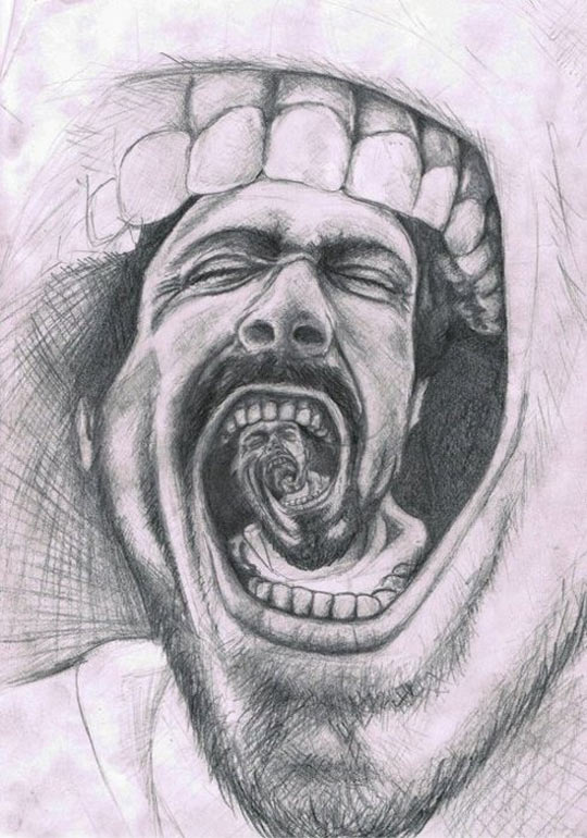 cool-drawing-screaming-mouth