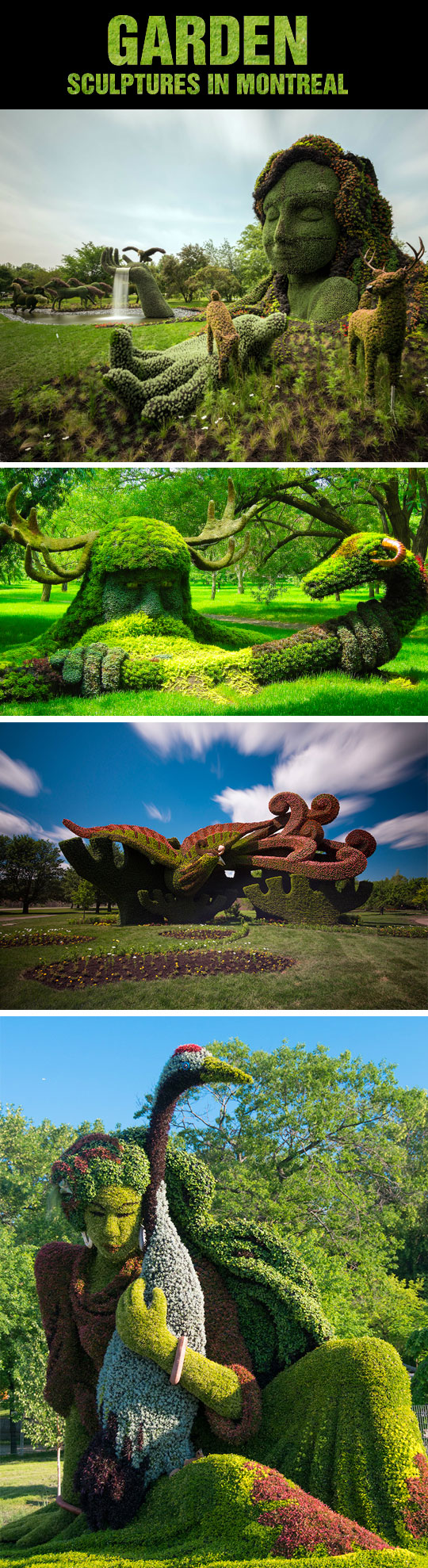 Amazing Garden Sculptures In Montreal
