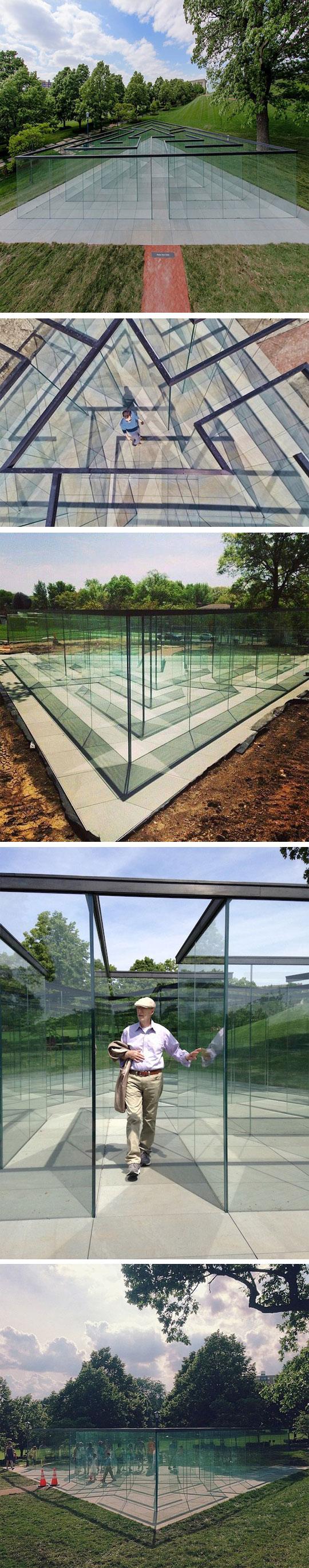 cool-glass-maze-walls-triangle