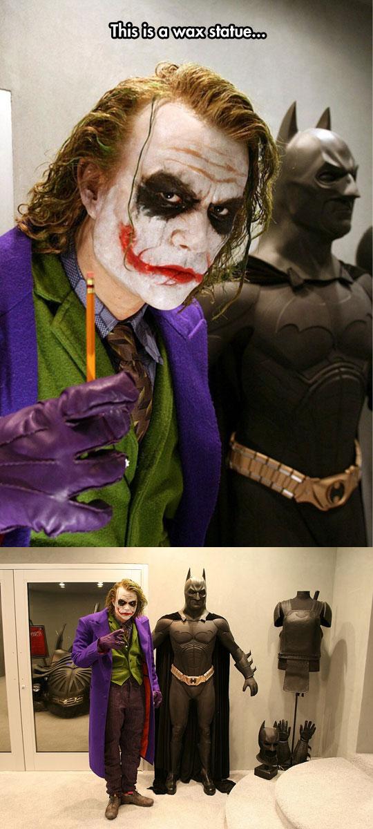Joker wax statue