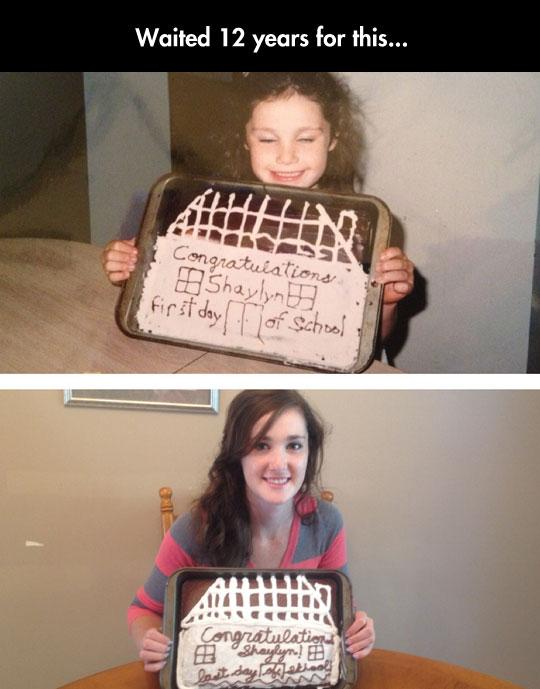 cute-girl-first-last-day-school-cake