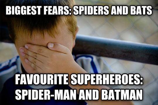 funny-Bat-Spiderman-kids-fear