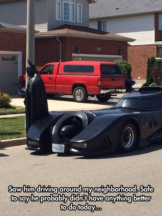 Batman Goes For A Ride