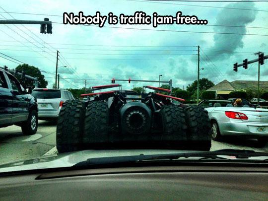 funny-Batmobile-traffic-jam-street