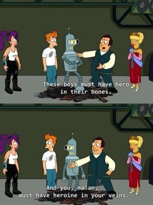 funny-Futurama-Bender-hero-scene