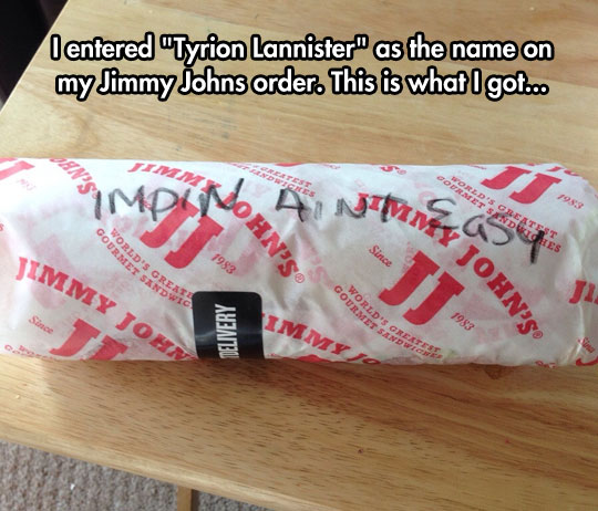 Oh, Jimmy Johns