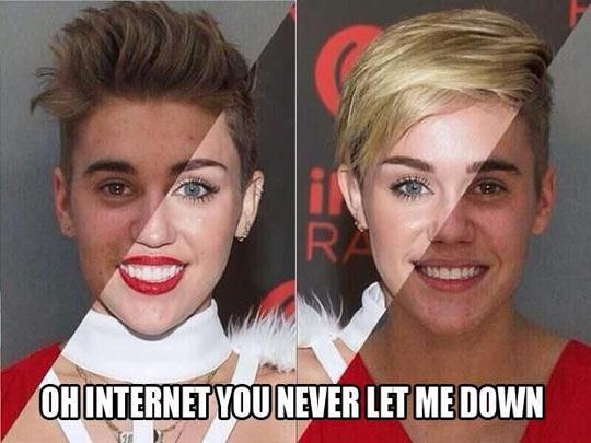 Miley Bieber Or Justin Cyrus