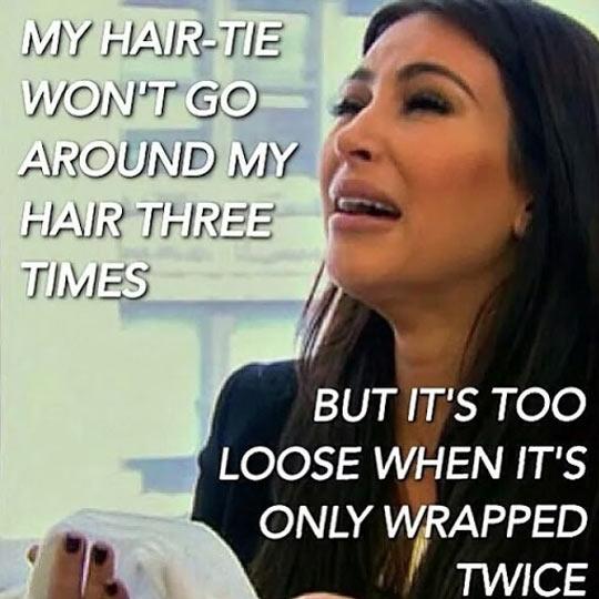 funny-Kim-Kardashian-crying-hair-tie