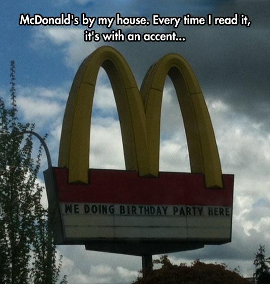 McDonald's Vocabulary