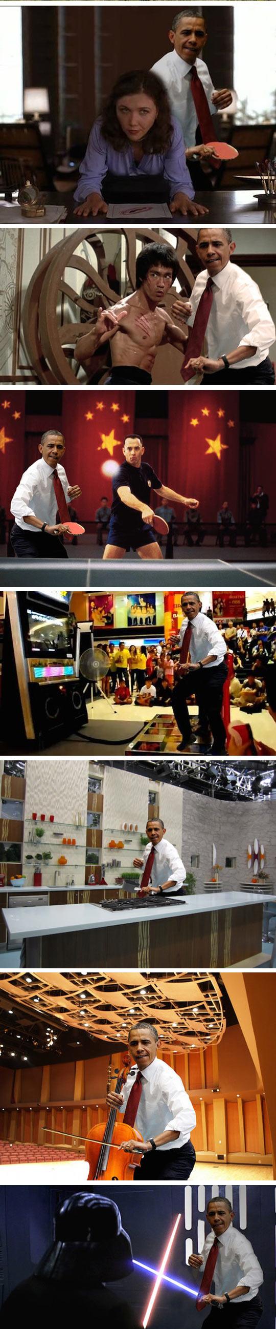 funny-Obama-photoshopped-ping-pong-battle-Bruce-Lee