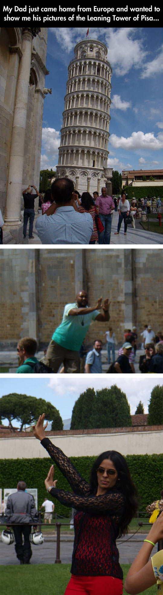 Tourist In The Leaning Tower Of Pisa