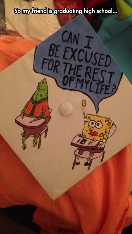 funny-SpongeBob-graduating-hat-drawing