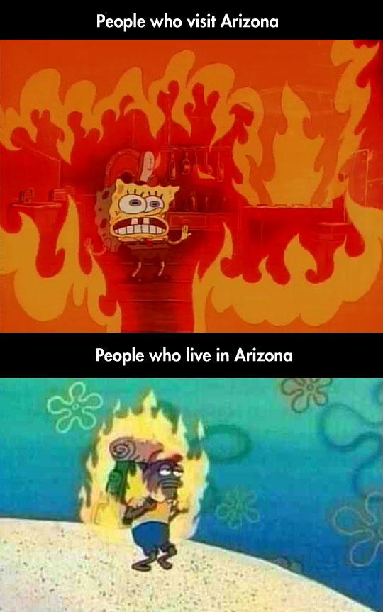 funny-SpongeBob-people-Arizona-heat
