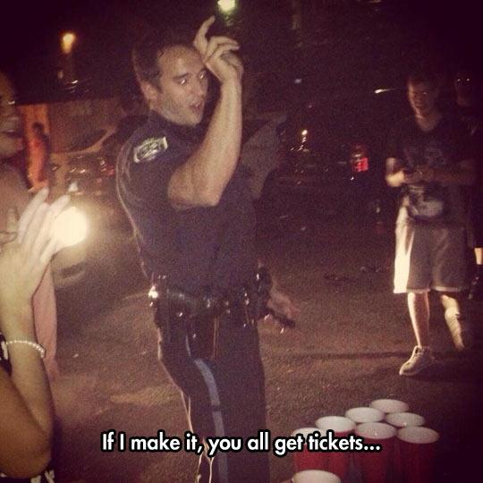 Beer Pong Cop