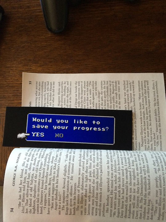 An Amazing Bookmark For Gamers
