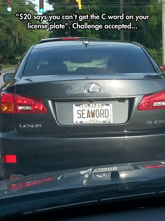 funny-car-sea-word-license-plate