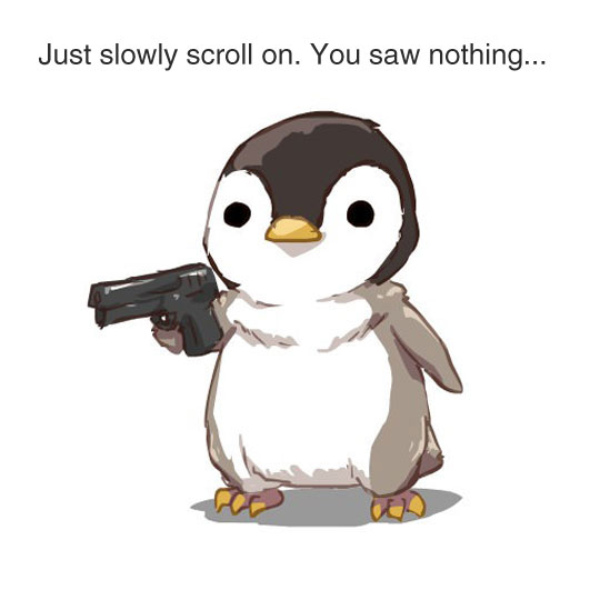 funny-cartoon-penguin-weapon-cute