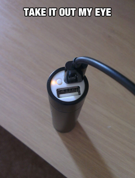Disturbing USB Charger